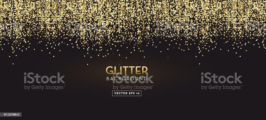 Golden Glitter design background vector art illustration