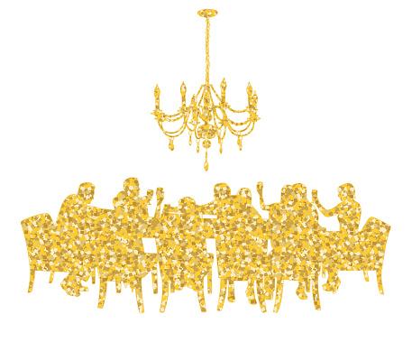 Golden Glitter Dinner