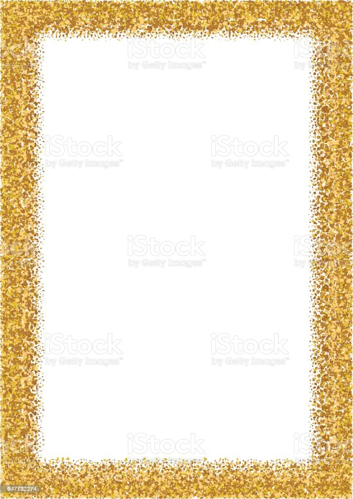 Golden Glitter Frame A4 Format Size Glittering Sparkle Frame Stock ...