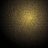 Golden Glitter Halftone Dotted Backdrop. Gold Retro Pattern. Golden  Confetti Background. Vector Illustration