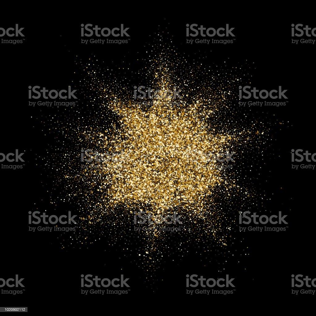 Ilustracion De Explosion De Particulas De Brillo Dorado O