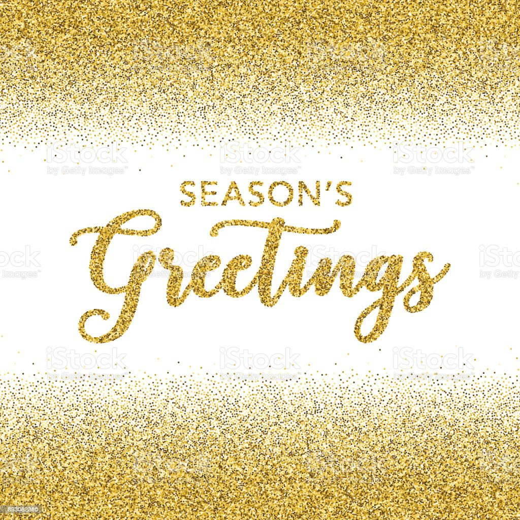 Golden glitter seasons greetings typography on transparent golden glitter seasons greetings typography on transparent background royalty free golden glitter seasons greetings typography kristyandbryce Image collections