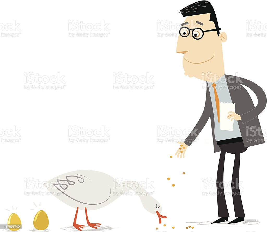 Golden goose royalty-free golden goose stock vector art & more images of adult