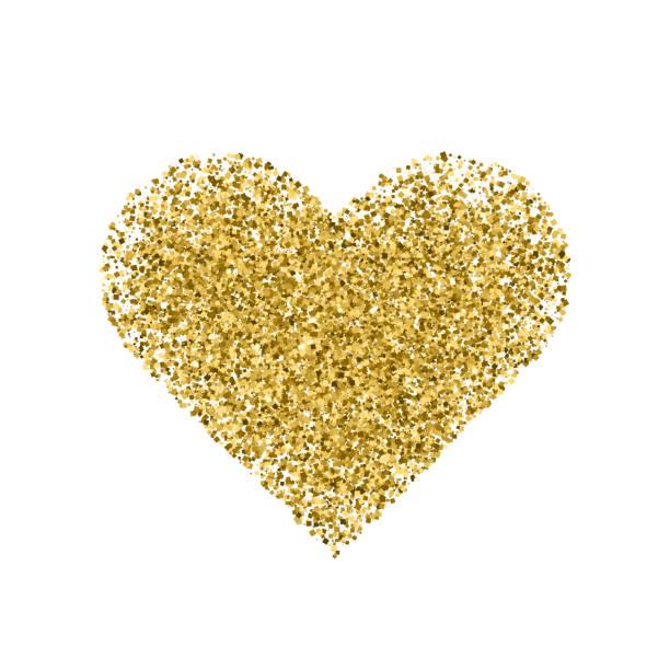 Golden heart isolated on white. Golden heart isolated on white background. Valentine Day symbol. Vector illustration,eps 10. sergionicr stock illustrations