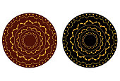 vector file of golden henna design