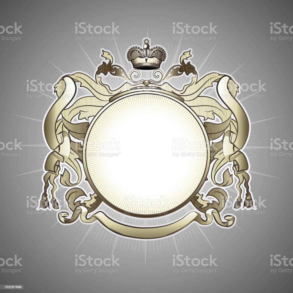 golden heraldic frame royalty-free stock vector art