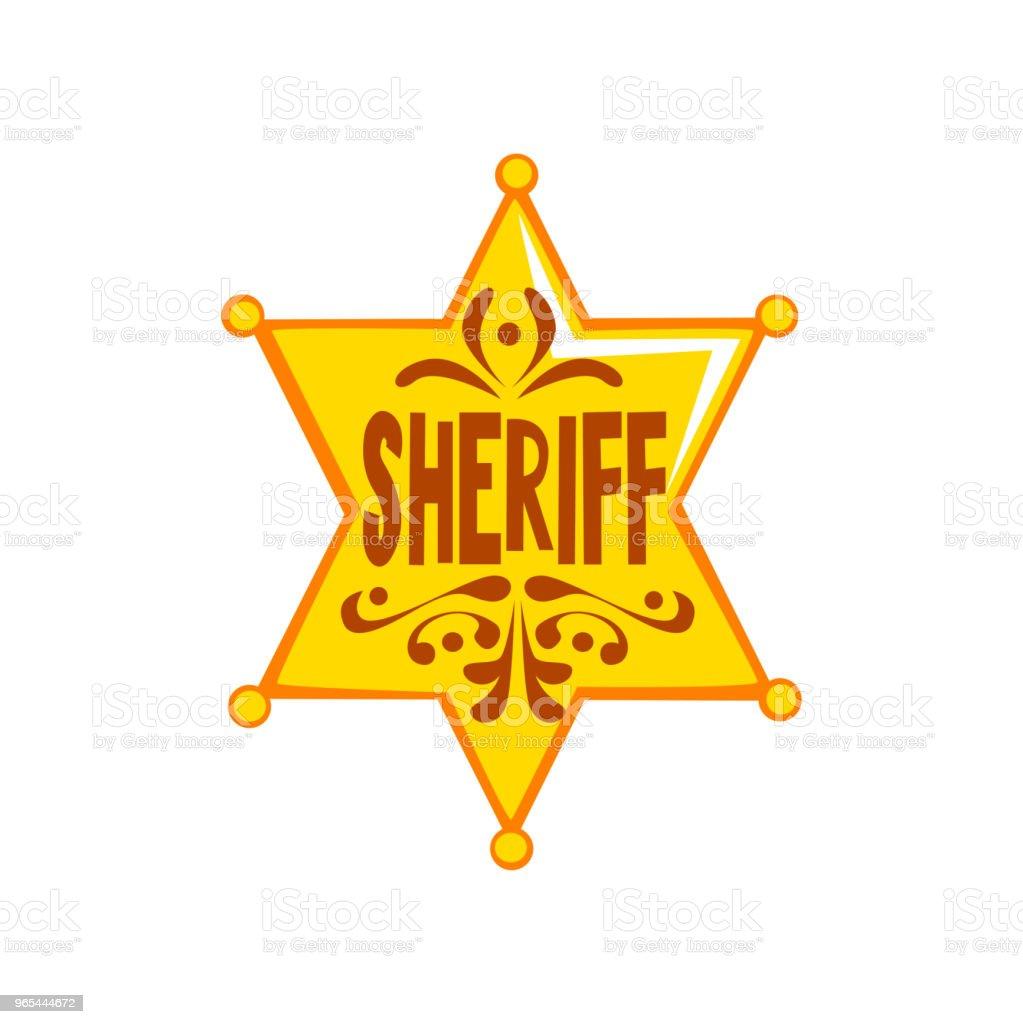 Golden hexagonal sheriff star badge vector Illustration on a white background golden hexagonal sheriff star badge vector illustration on a white background - stockowe grafiki wektorowe i więcej obrazów archiwalny royalty-free