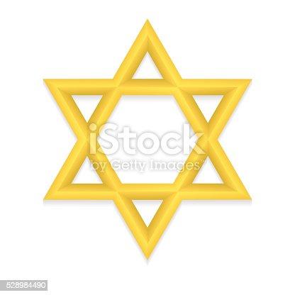 istock Golden hexagram icon 528984490