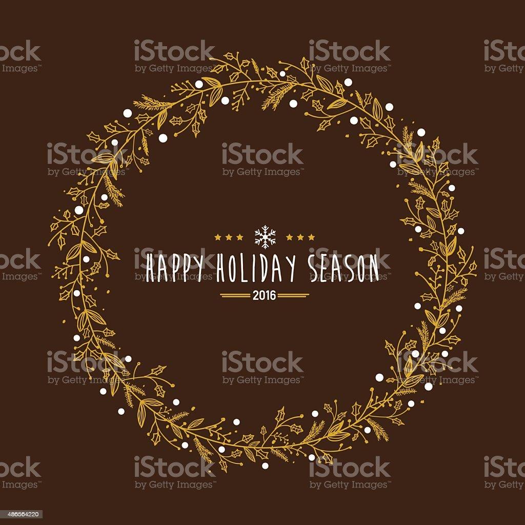 Happy Holidays Wreath Clip Art