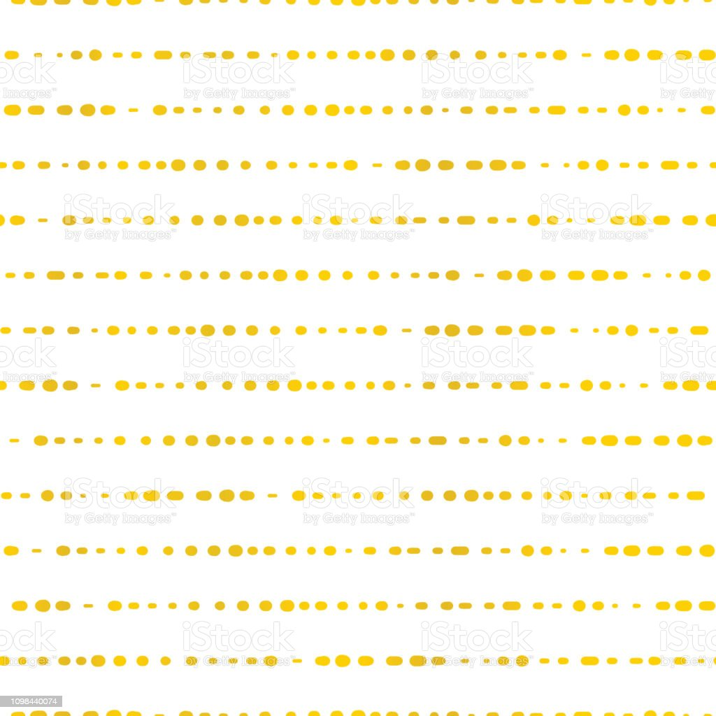 Golden horizontal lines dotted. Seamless vector vector art illustration