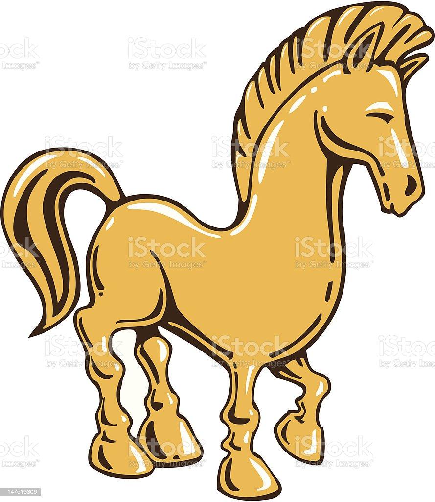 Golden Horse Cartoon Stock Illustration Download Image Now Istock