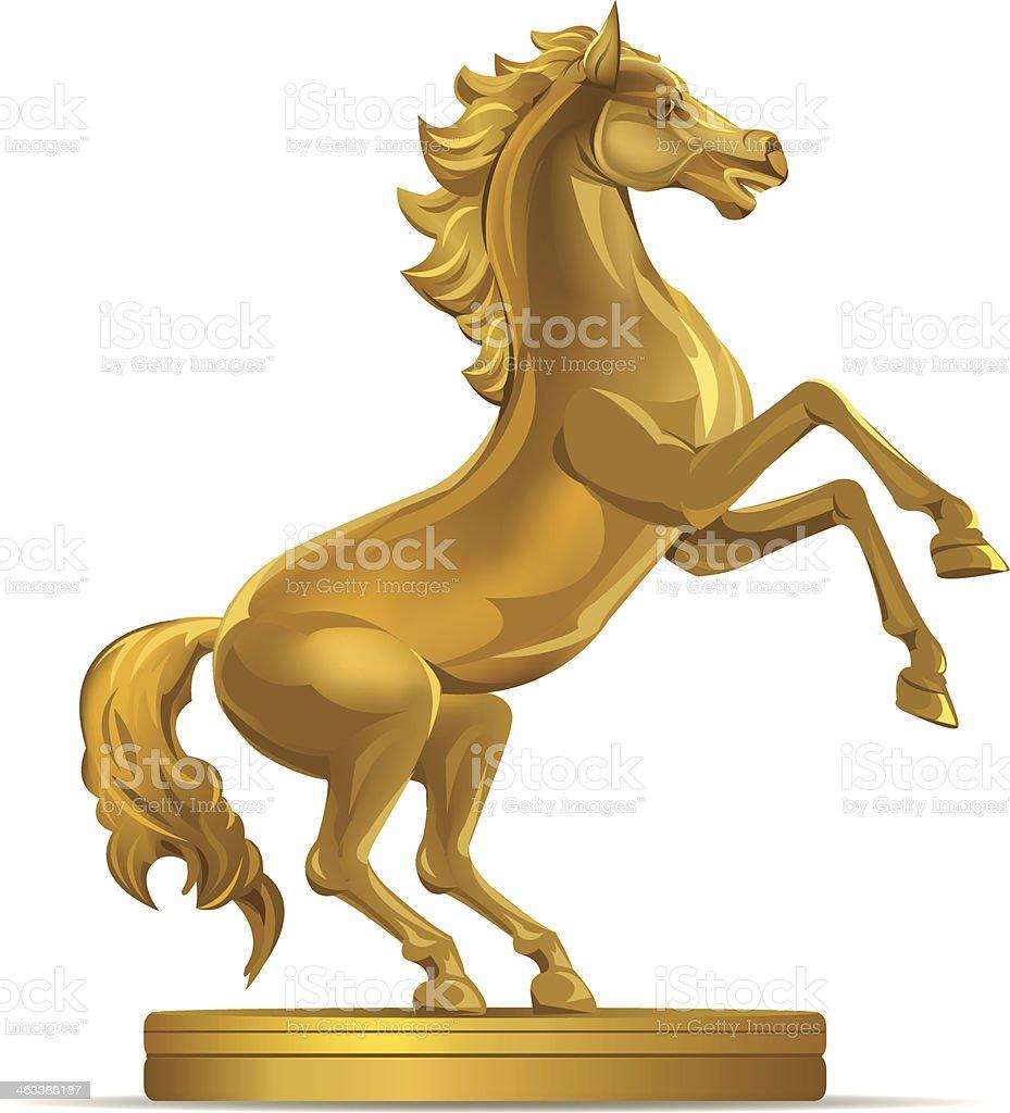 Golden Horse Illustration Stock Illustration Download Image Now Istock