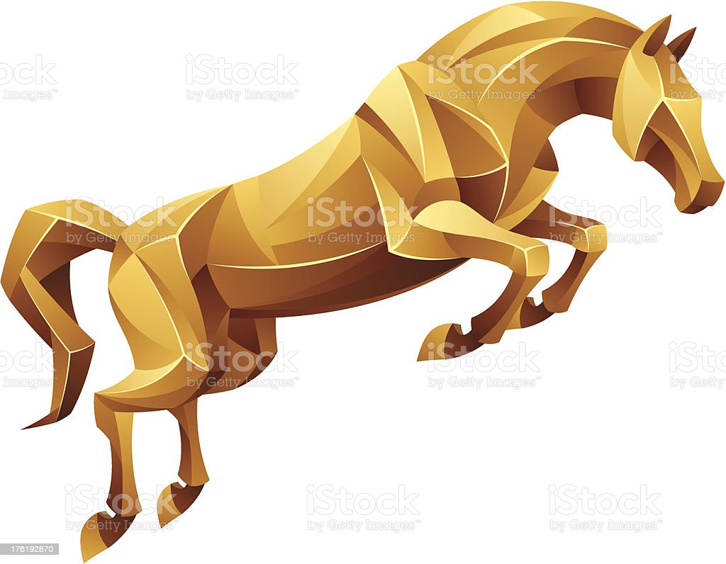 Golden Horse Jumping Stock Illustration Download Image Now Istock