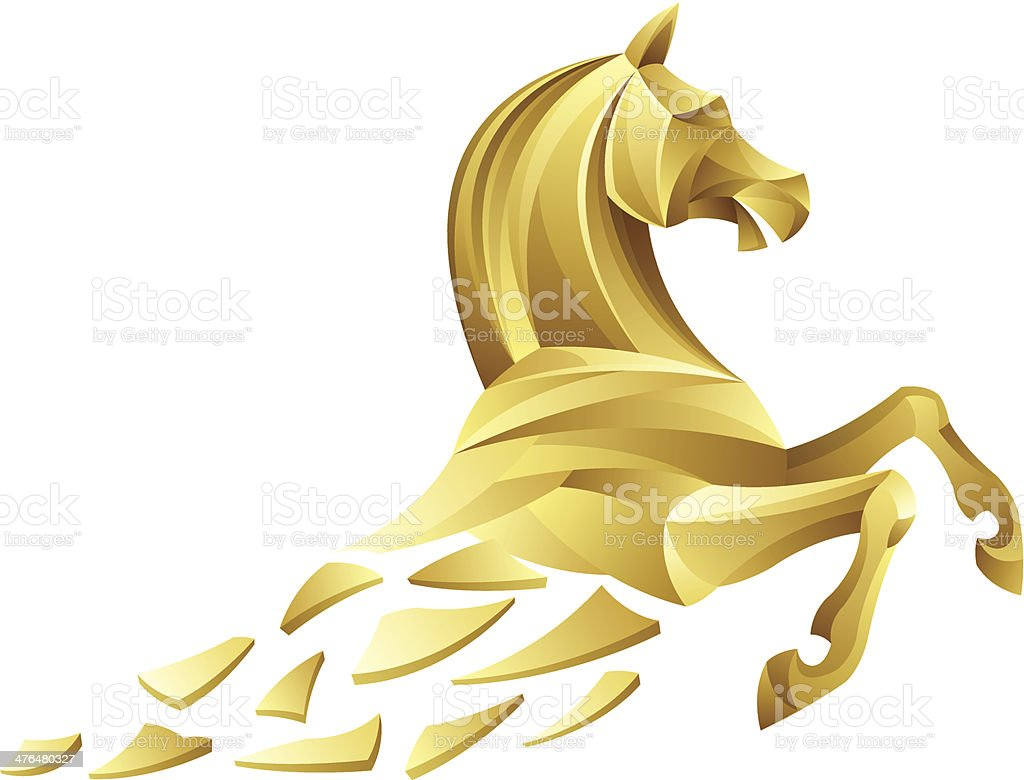 Golden Horse Stock Illustration Download Image Now Istock