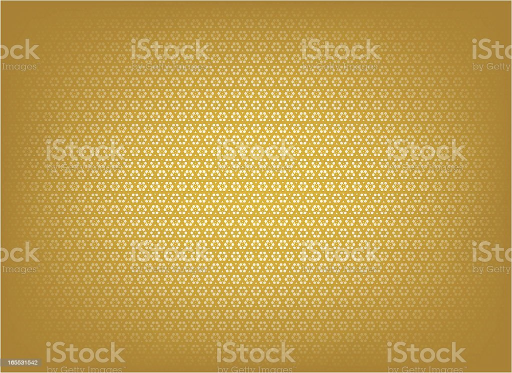 Golden islamic patteen vector art illustration