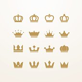 A set of detailed crown icons. Eps8.