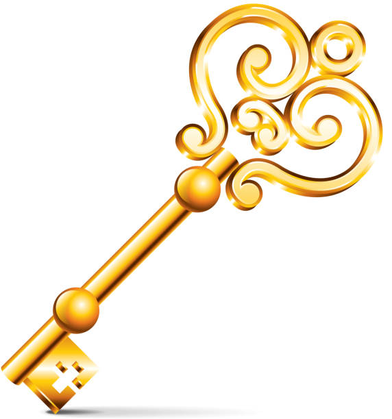 Antique key clip art vector images illustrations istock for Art with old keys