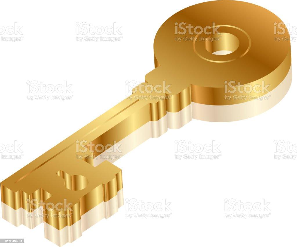 golden key royalty-free golden key stock vector art & more images of bronze - alloy