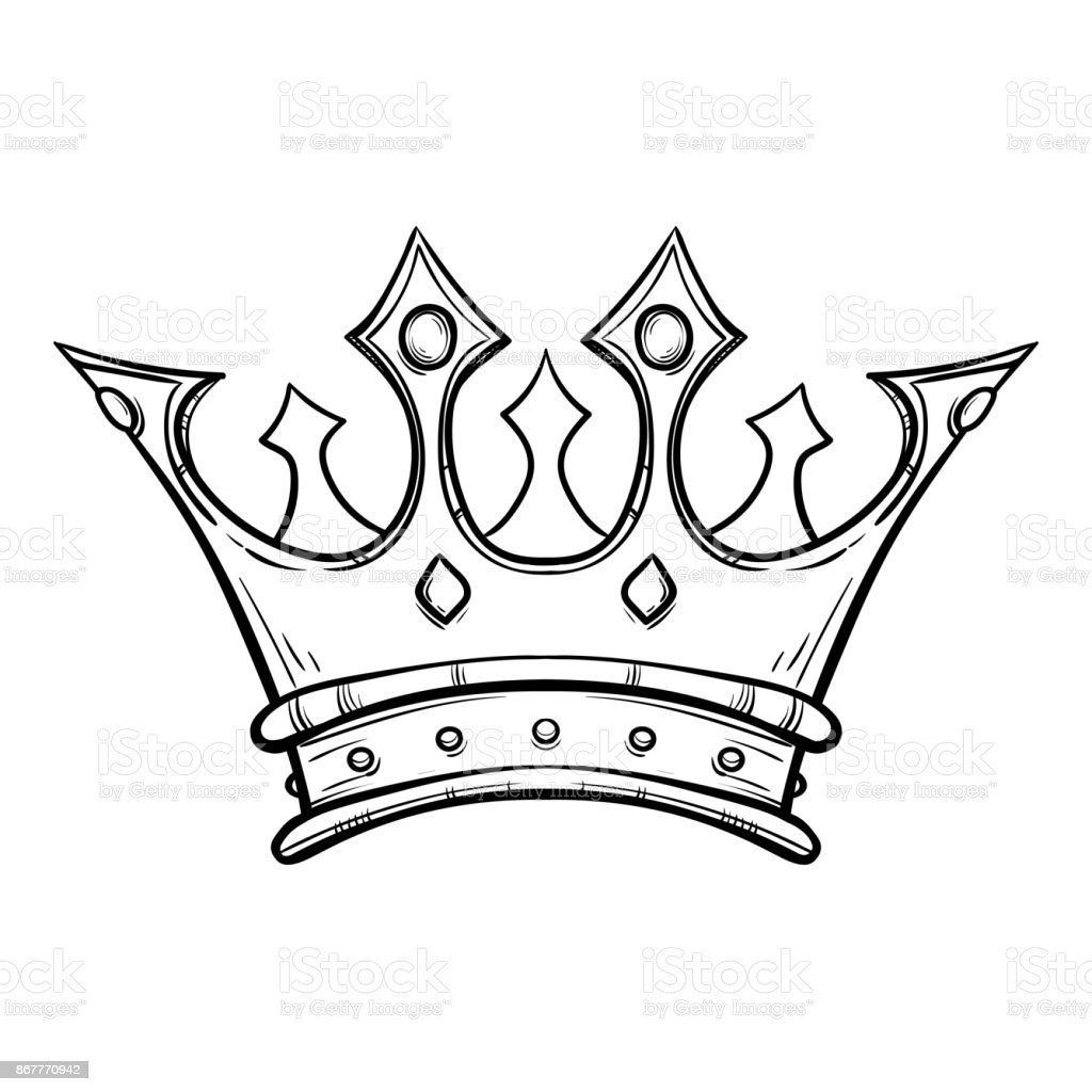 Crown Tattoo Line Drawing : List of synonyms and antonyms the word king crown drawing
