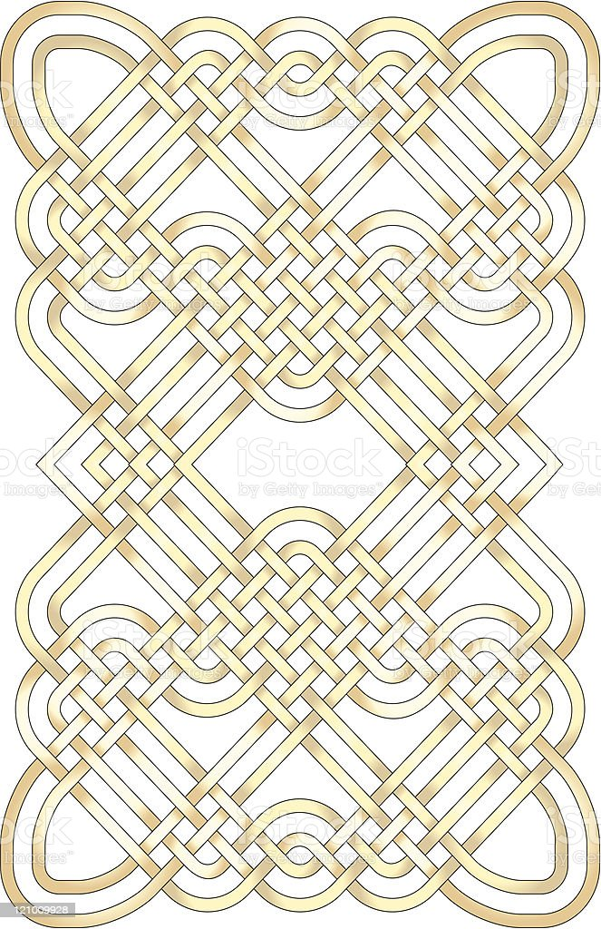 Golden knotwork royalty-free stock vector art