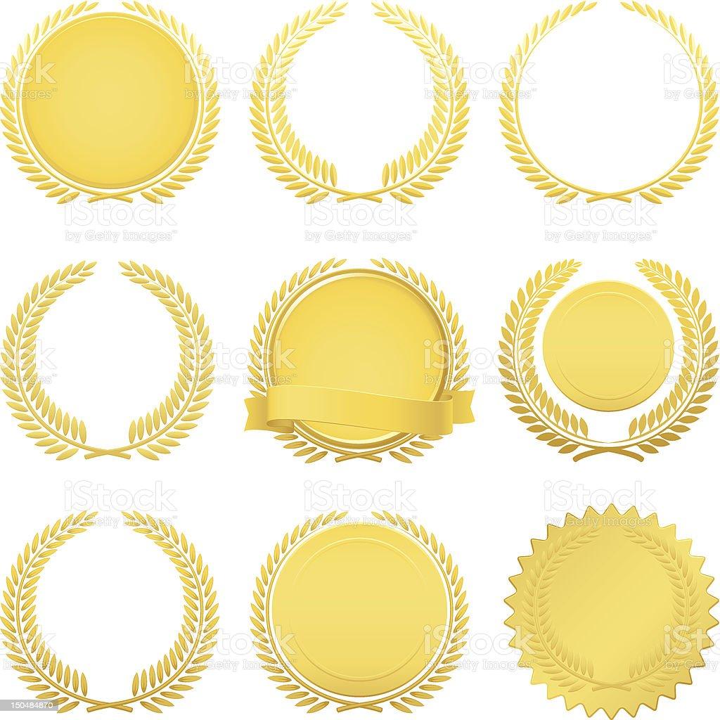 Golden laurel wreaths royalty-free golden laurel wreaths stock vector art & more images of achievement