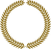 golden laurel wreaths - vector illustration