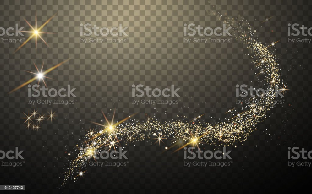 golden light streak vector art illustration