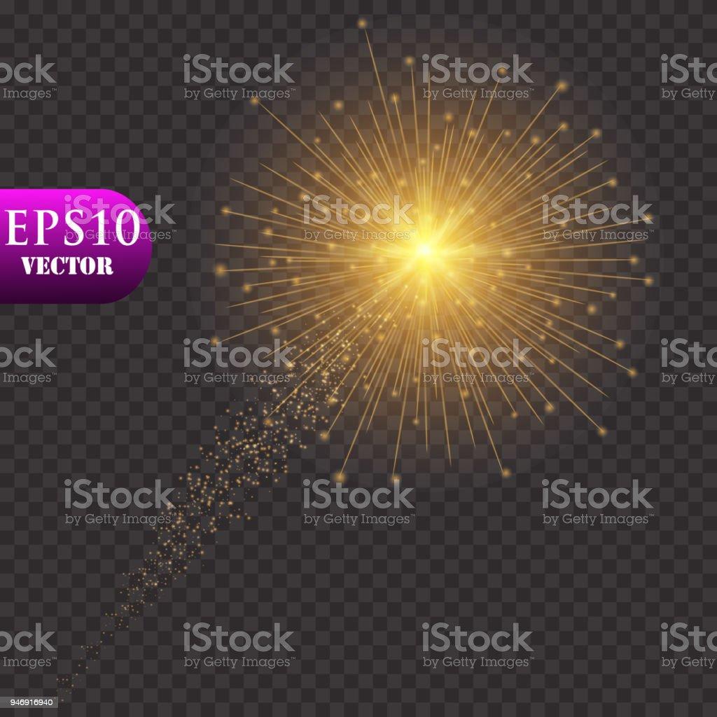 Ilustração De Fundo De Luzes Douradas Conceito De Luzes De Natal