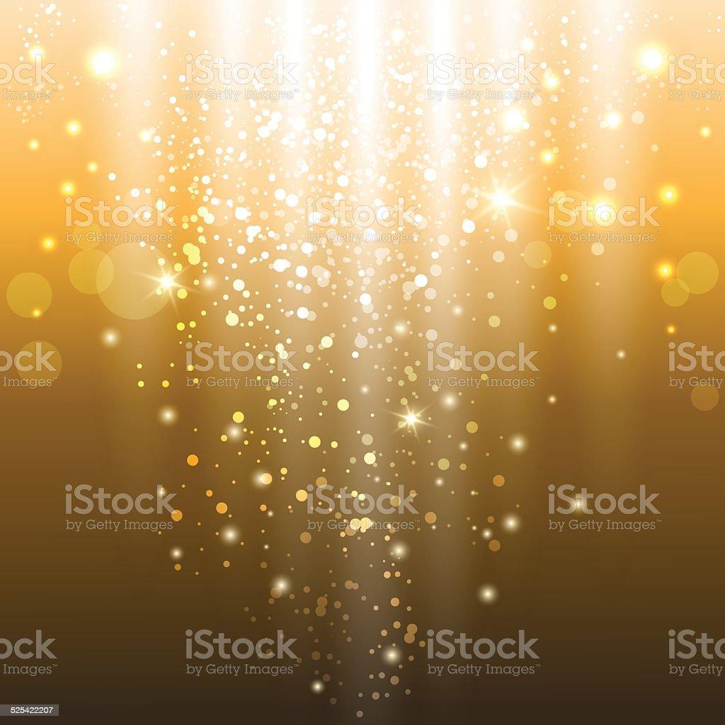 golden lights vector art illustration