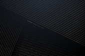 Golden lines abstract background in vector