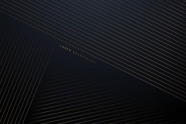 złote linie abstrakcyjne tło - luksus stock illustrations