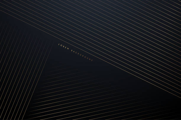 golden lines abstract background - modern stock illustrations
