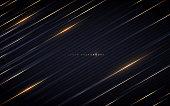 istock Golden lines on dark background 1197484911