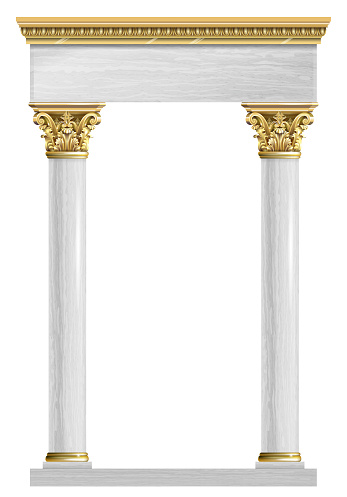 Golden marble arch portal Baroque