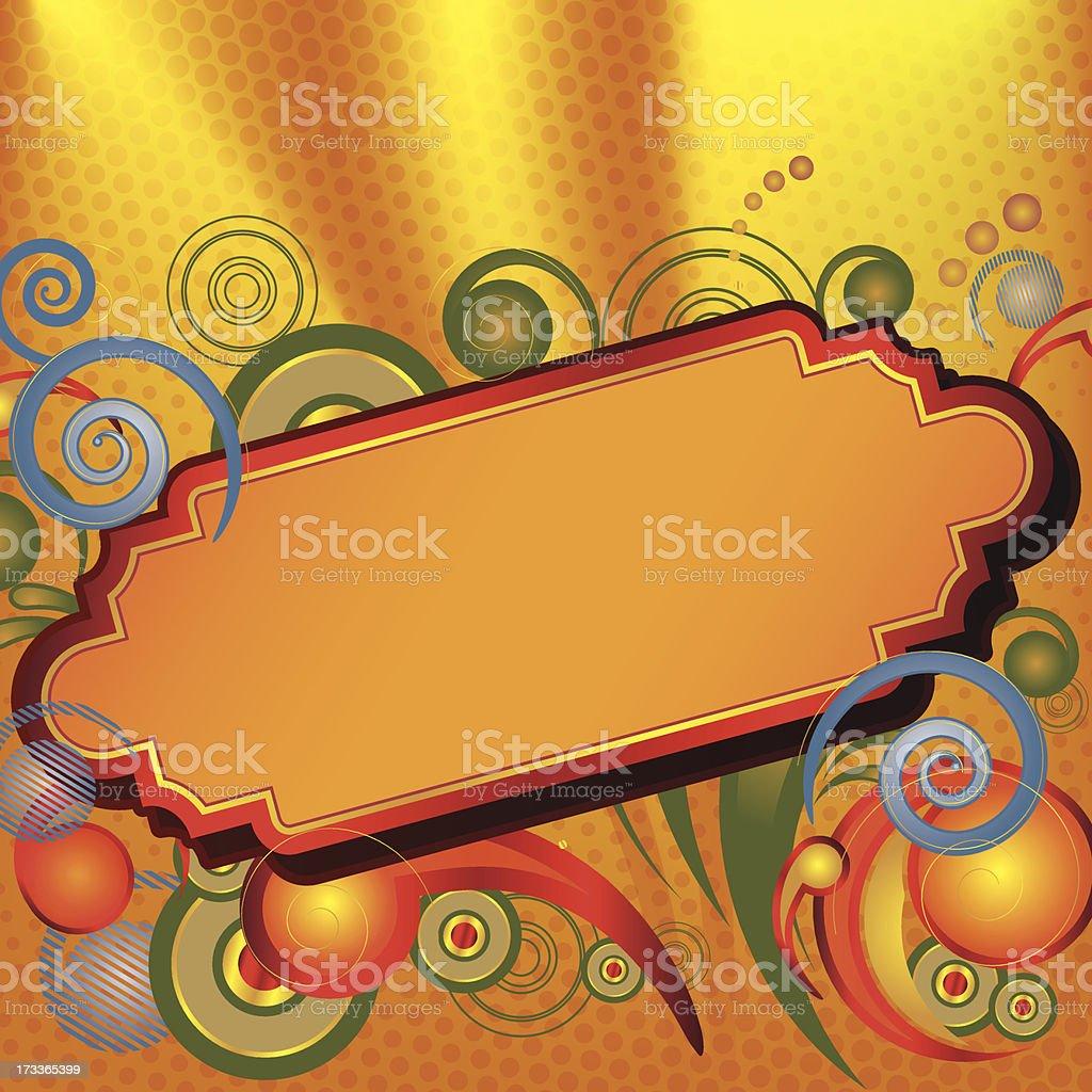 Golden Marquee vector art illustration