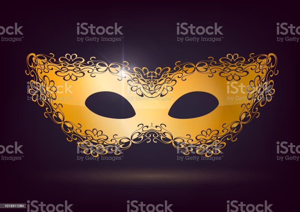 48cd643e8 Máscara de la mascarada dorada ilustración de máscara de la mascarada  dorada y más vectores libres