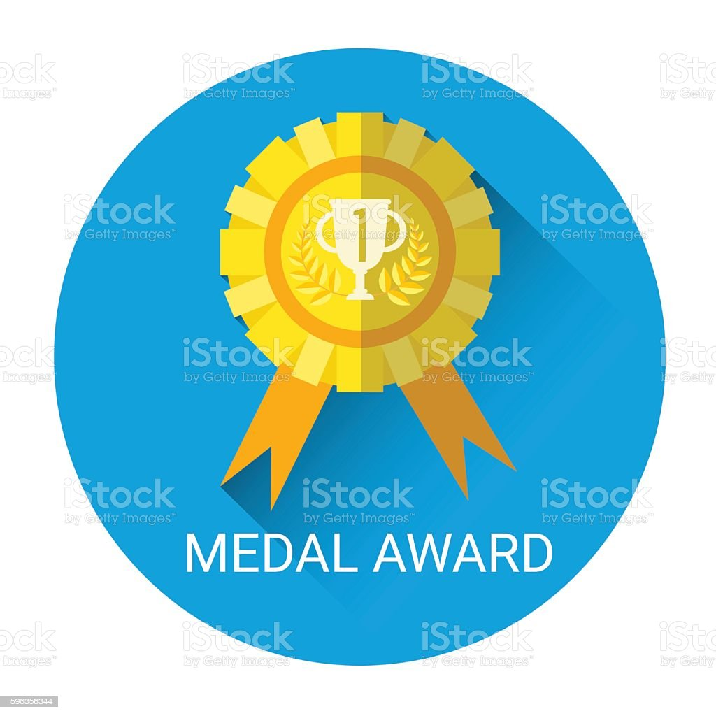 Golden Medal Award Icon royalty-free golden medal award icon stock vector art & more images of concepts