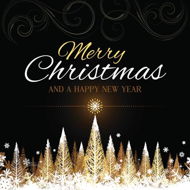 golden merry christmas background vector art illustration