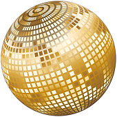 Sparkling mirror balls for parties