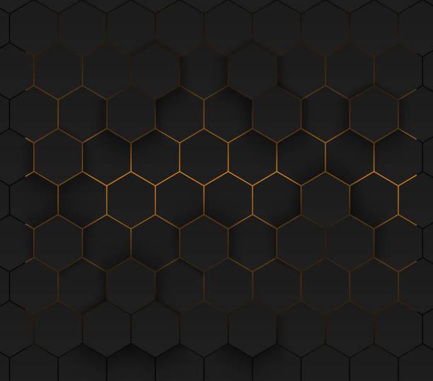 Golden modern futuristic neon background. Eps 10. vector art illustration