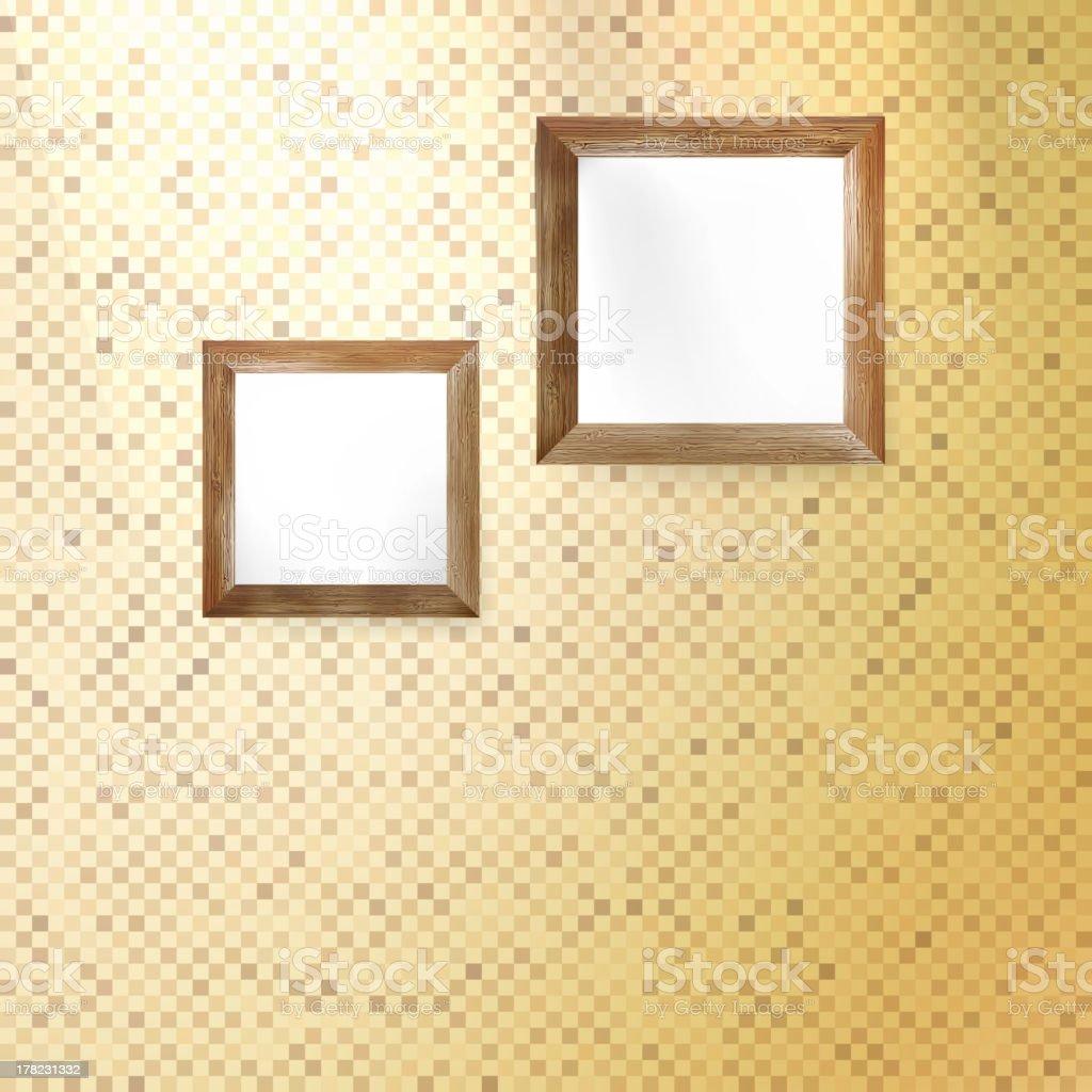 Golden mosaic interior. royalty-free stock vector art