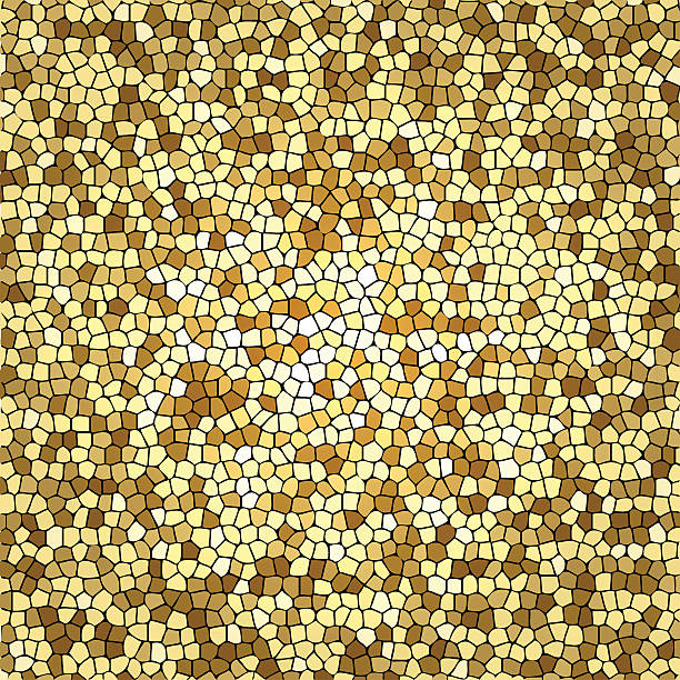 golden mosaik - kieselmosaik stock-grafiken, -clipart, -cartoons und -symbole