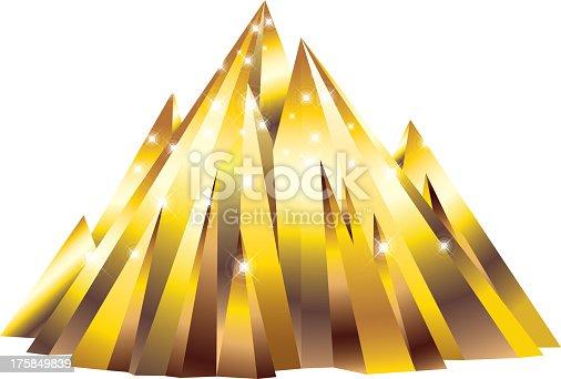 istock Golden mountain 175849839