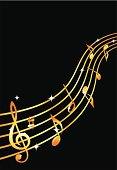 Golden musical flow.