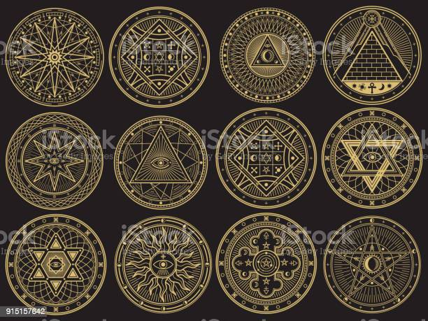 Golden mystery witchcraft occult alchemy mystical esoteric symbols vector id915157642?b=1&k=6&m=915157642&s=612x612&h=u11vqsfvfs4  bjf9rqs59iwfe9s xxaglzmb7hvp8e=
