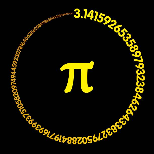 golden number pi forming a circle - golden ratio stock illustrations
