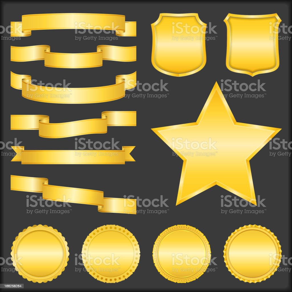 Golden Objects royalty-free stock vector art