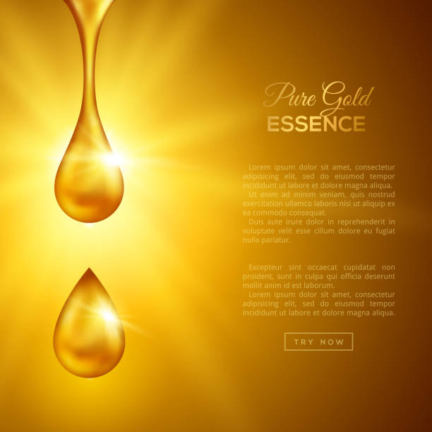 golden oil drops, collagen essence - honey drip stock illustrations, clip art, cartoons, & icons
