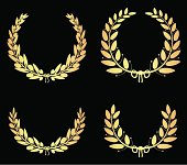 Golden Olive Laurel Wreaths