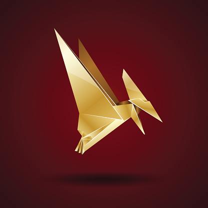 Doro Origami Pterodattilo - Immagini vettoriali stock e altre immagini di  Animale - iStock